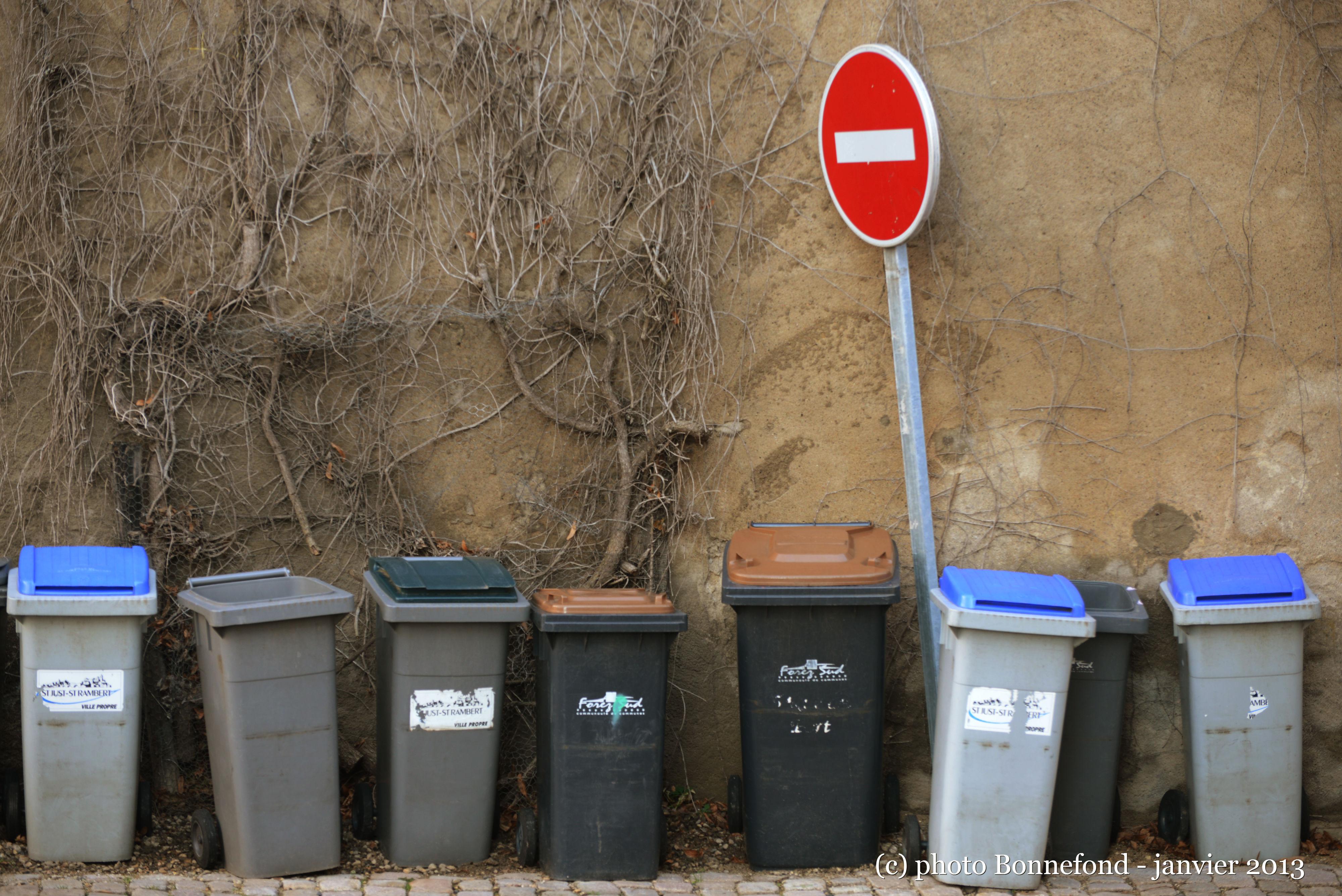 poubelles interdites